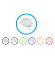 brain rounded icon vector image