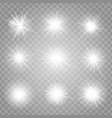 bright shining stars collection vector image