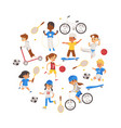 children playing various sports set vector image vector image