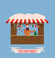 christmas market stalls canopy seller with new vector image