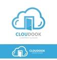 cloud and door logo concept vector image vector image