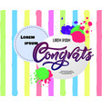 composition with congrats modern calligraphy hand vector image vector image
