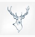 deer animal wild one line design vector image vector image