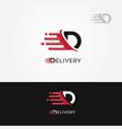 delivery logo letter g vector image vector image