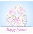Easter flowers egg background Doodles ornament for vector image vector image