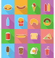 fast food flat icons 18 vector image vector image