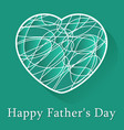 fathers day greeting card - white scribble heart vector image
