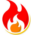 flame icon graphic vector image vector image