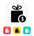 Gift with price tag icon vector image