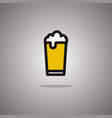 glass beer isolated vector image