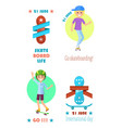 go skateboarding international day event 21 june vector image vector image