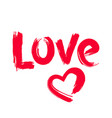 hand drawn love and heart shape vector image vector image
