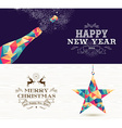 Happy new year 2015 Merry christmas bottle star vector image vector image