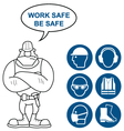 Health and Safety Signs vector image vector image