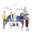 home party with dancing drinking people flat vector image vector image