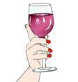 In vino veritas vector image vector image