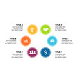 infographic cycle diagram labels graph vector image vector image