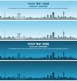 johannesburg skyline event banner vector image vector image