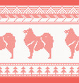 knitted dog seamless pattern in red color vector image vector image