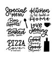 lettering food beverage photography overlay vector image