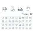 Logistic and distribution icons vector image vector image