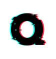 logo letter q glitch distortion vector image
