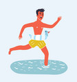 mens swimming vector image