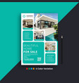 modern real estate business flyer design templates vector image