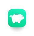 moneybox piggy bank icon vector image vector image