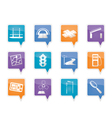 navigation and travel icons vector image