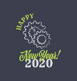 new year 2019 sign on the black background vector image vector image