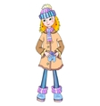 Nice young girl in winter wear vector image