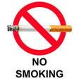 no smoking poster vector image vector image