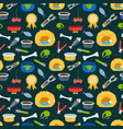 pets accessories colorful seamless pattern vector image vector image