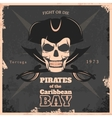 Pirates Of Carribbean Bay Vintage Poster vector image