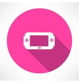 Portable game console icon vector image