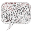 Pump Iron and Speed Up Your Metabolism text vector image vector image