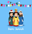 purim sameach holiday greeting card for the jewish vector image vector image