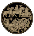 scandinavian viking design viking riders fight vector image vector image