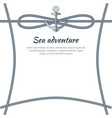sea adventure poster and text vector image vector image