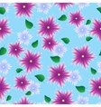 Seamless pattern with lilac flowers vector image vector image