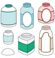 set of body powder vector image vector image