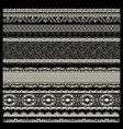 Set of lace trims vector image