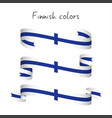set of three ribbons with the finnish colors vector image vector image