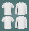 set of white blank t-shirts vector image