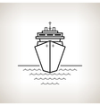 Silhouette cruise ship on a light background vector image vector image
