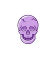 skull icon colorful flat logo thin line vector image vector image