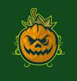 smiling pumpkin mascot logo vector image vector image