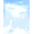 splash of milk - with blue sky background vector image