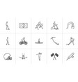 sports hand drawn outline doodle icon set vector image vector image